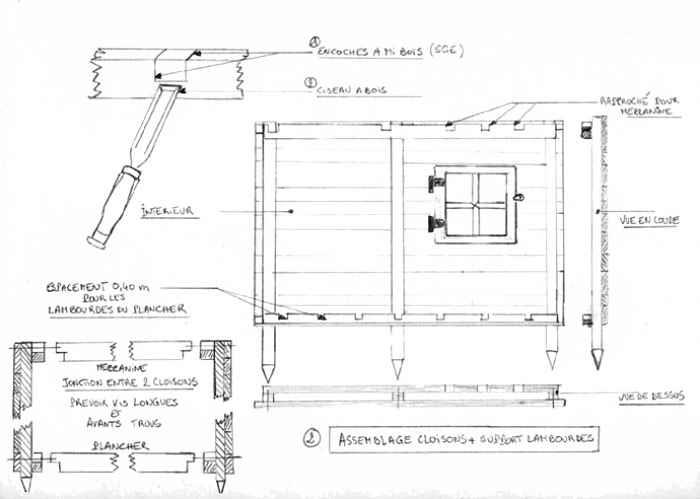 plan maisonnette en bois gratuit cabane de jardin ossature bois les cabanes de jardin abri de. Black Bedroom Furniture Sets. Home Design Ideas