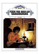 couverture de la BD de Cosey Jonathan en train d'écrire sur une table basse à la lueur d'une lampe à huile