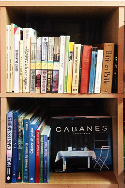 Bibliothèque de livres de cabanes