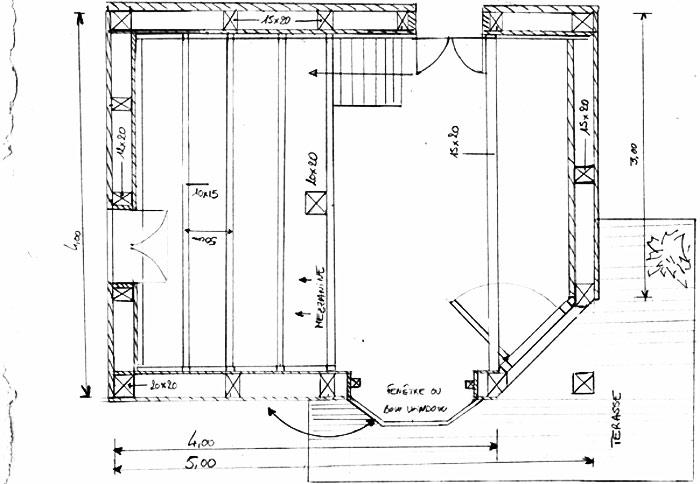 Plans de cabanes et guides, dimensions des matériaux, du bois.