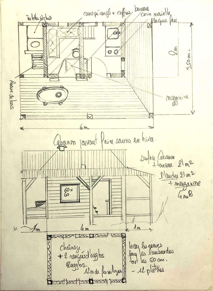 plan de cabane