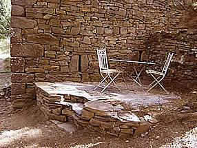 terrasse de pierre