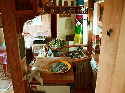 vue de la cuisine de dessus