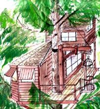 Croquis pour une cabane dans les arbres