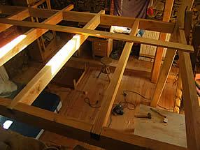 mezzanine en construction dans une bergerie