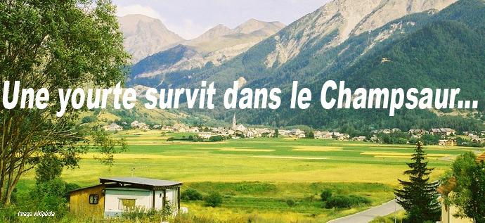 village du Champsaur avec un cabanon