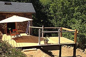 Contruire Terrasse De Cabane En Bois De Scierie Plate Forme Pilotis