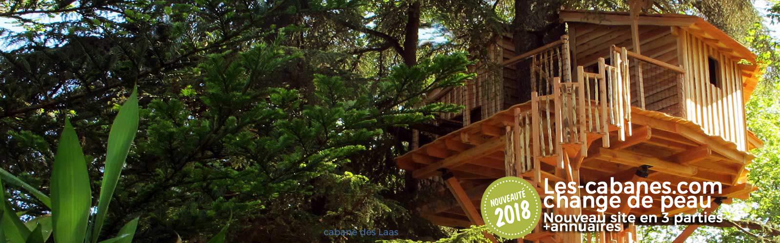 cabanes en bois dans les arbres à louer