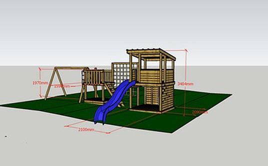 plan 3D de cabanes perchées