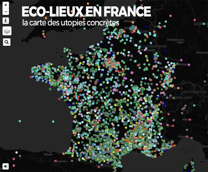 carte des écolieux en France