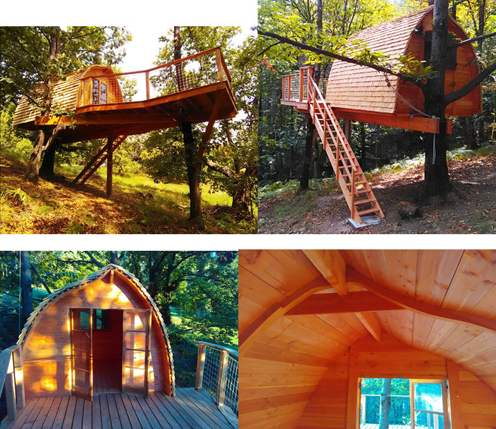 resultat final de la construction de la cabane.