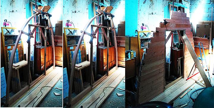 fabrication des pignons cabane en bois